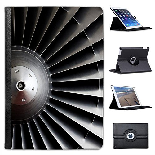 Close Up Of Jet Turbine Engine For Apple iPad Mini, iPad Mini 2, iPad Mini Retina, iPad Mini 3 Faux Leather Folio Presenter Case Cover Bag with Stand Capability (Mini Turbine Engine Jet compare prices)