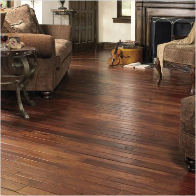 """Colonial Manor Random Width 2-1/4"""", 3-1/4"""" or 4"""" Solid Hickory in Smokehouse"""
