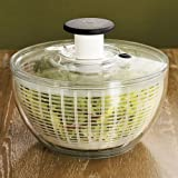 OXO Salad Spinner: Small Clear Spinner