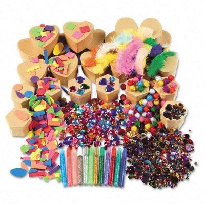 Chenille Kraft Company Paper Mache Kits, Glue, Glitter Pens, 24 Boxes