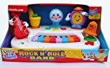 Light and Sound Rock n roll Band Piano Keyboard Toddler Baby Musical