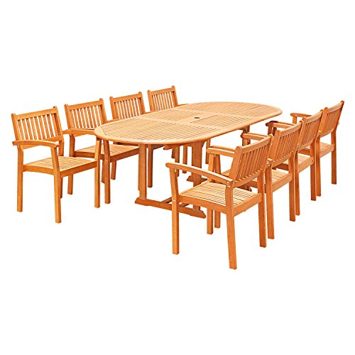 vifah-v144set28-9-piece-outdoor-wood-dining-set-with-oval-extension-table-and-stacking-chairs