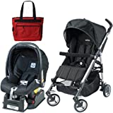 Peg Perego Si Travel System in Nero with Fashionable Diaper Bag