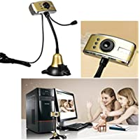 KING DO WAY 3-LED USB Night Vision HD Webcam Camera Web Cam With Microphone For PC Laptop