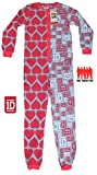 Girls Onesie All Inn One Jumpsuit Pyjamas One Direction 1D 6-16 Years