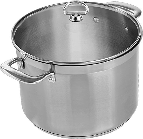 Chantal SLIN33-240 Induction 21 Steel Stockpot with Glass Tempered Lid (8-Quart) (Chantal Induction 21 compare prices)
