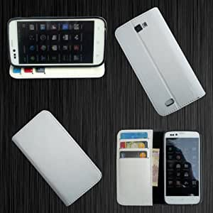 i-KitPit PU Leather Wallet Flip Case For Lava Xolo A800 (WHITE)