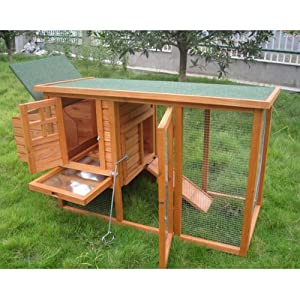 BUNNY BUSINESS Mini Shack New Chicken Hen House Coop Poultry Ark Run Rabbit Hutch with Deluxe Cover