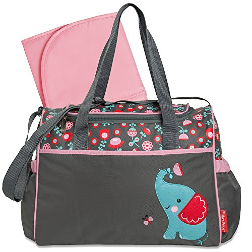 Fisher-Price Elephant Duffel Style Diaper Bag