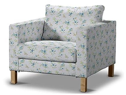 FRANC-TEXTIL 619-141-16 Karlstad sillón funda, funda sillón, Karlstad sillón, Mirella, azul/gris