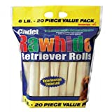 Cadet Rawhide Retriever Rolls Dog Chew, 6 Pound- 20 Piece Value Pack