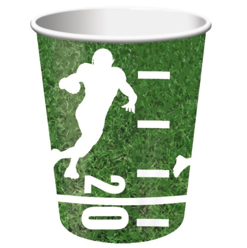 Creative Converting Football Hot or Cold Cup 9 Oz. Paper Cups (8 Count)