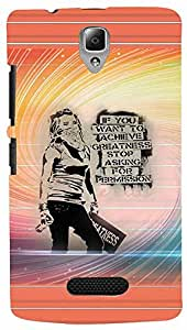 PRINTVISA Girly Attitude Quotes Case Cover For Lenovo A2010