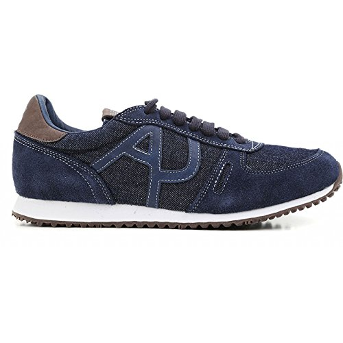 Scarpe uomo Armani Jeans, sneaker in denim, art. C652444 (44, Denim)