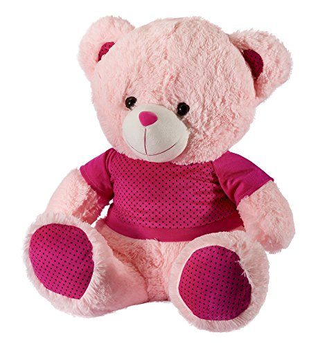 Dhoom-Soft-Toys-Teddy-Bear-Boy-Dress-Dress-Colors-May-Change-Pink-45-CM