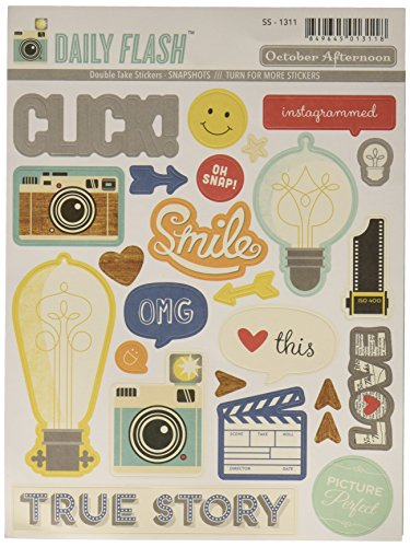 October Afternoon Daily Flash Snapshots Double Take Sticker, Shapes and Labels - 1