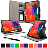 """rooCASE Samsung Galaxy Tab Pro 10.1 / Note 10.1 2014 Edition Case - Dual View Multi Angle Landscape Portrait Stand 10.1-Inch 10.1"""" Tablet Case - Black (With Auto Wake / Sleep Cover)"""