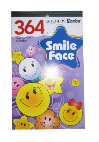 WeGlow International Sticker Book - Happy Faces - 364 pieces (4 packs)