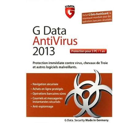 G Data antivirus 2013 (3 postes, 1 an)