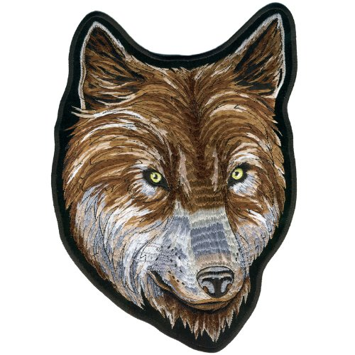Hot Leathers Wolf Face Biker Patch (8