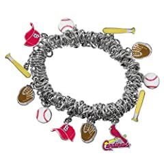 Game Time 101486 MLB St. Louis Cardinals Stretch Bracelet by Game Time
