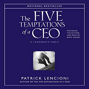 The Five Temptations of a CEO Audiobook