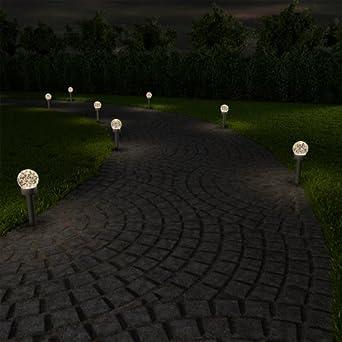 Terra SOLARE Stringa Fata Luci Disco IMPERMEABILE DA GIARDINO ESTERNO Pathway Outdoor