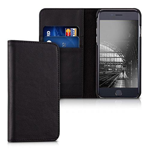 kalibri-Leder-Hlle-James-fr-Apple-iPhone-6-6S-Echtleder-Schutzhlle-Wallet-Case-Style-mit-Karten-Fchern-in-Schwarz