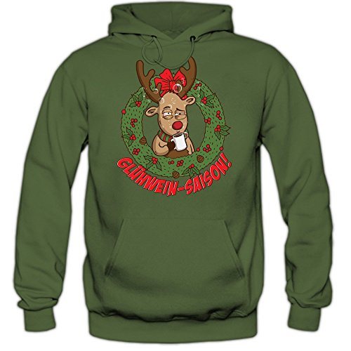 rentier gl hwein saison hoody rudolph weihnachten christmas xmas pullover. Black Bedroom Furniture Sets. Home Design Ideas