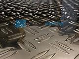 Aluminum checker plate 500x500x1,5/2mm aluminum sheet DUET Alu plate