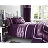 NEW PLUM PINTUCK DESIGNED BEDDING - MATCHING ITEMS AVAILABLE (king size duvet set)