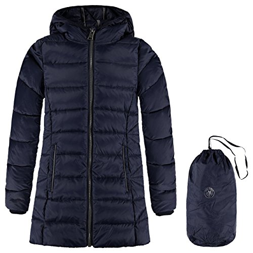 Marc O' Polo Kids Mantel Mit Kapuze, Giubbotto Bambina, Blau (Night Sky 3143), 14 Anni