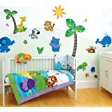 Funtosee, Fisher Price Precious Planets Room Make-over Kit, 60 Giant Peelable Stickers, Bright Coloursby Funtosee
