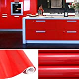 Aruhe-5x061-M-PVC-Kchenschrank-Aufkleber-Selbstklebend-Kchenfolie-Klebefolie-Schrankfolie-Deko-Tapeten-Rollen-fr-Kchenschrnke-Mbel-Rot