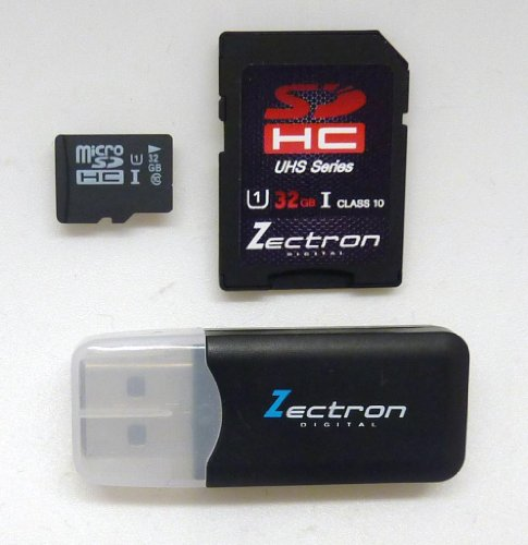 Zectron UHS-1 32GB Micro Class 10 Memory Card for LG Tegra 2, LG VS910 + Free Micro USB card reader sale off 2016