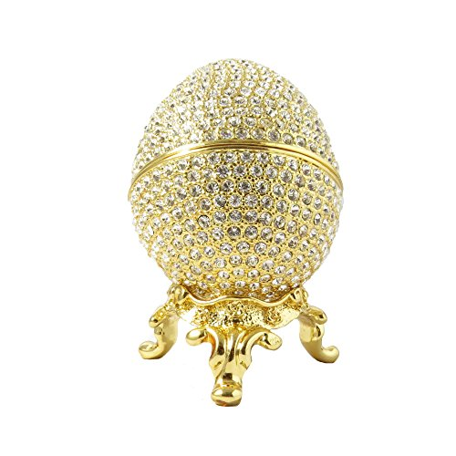 Faberge Style Egg and Box 24k Gold Plated