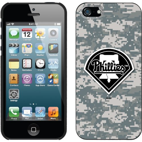 Best Price Philadelphia Phillies - Digi Camo Phillies design on a Black iPhone 5s / 5 Thinshield Snap-On Case by Coveroo