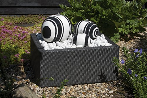 Decowall WICKER VI Rectangulaire pour Fontaine de Jardin 150 L