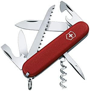 Victorinox Swiss Army Camper II Pocket Knife, Red