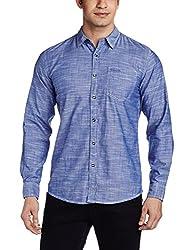 Wrangler Men's Casual Shirt (8907222641481_W14901945N2D_X-Large_Blue)