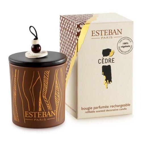 Esteban Cedre Scented Decorative Candle Refillable 5.3 oz