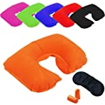 INFLATABLE TRAVEL PILLOW HEAD NECK RE...