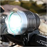 """Bright Eyes Rechargeable Bike Headlight - With """"NEW"""" 6400mAh Battery - POWERFUL 1200 Lumens - FREE TAILLIGHT Included - LIFETIME WARRANTY"""