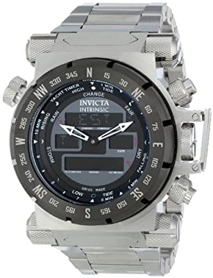 Invicta Men's 13077 Intrinsic Analog-Digital Display Swiss Quartz Silver Watch
