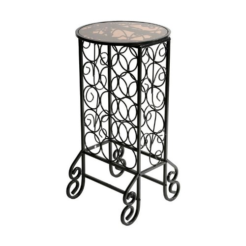 Glass-top Wine Table - Iron