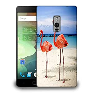 Snoogg Flamingos Printed Protective Phone Back Case Cover Fpr OnePlus One / 1+1