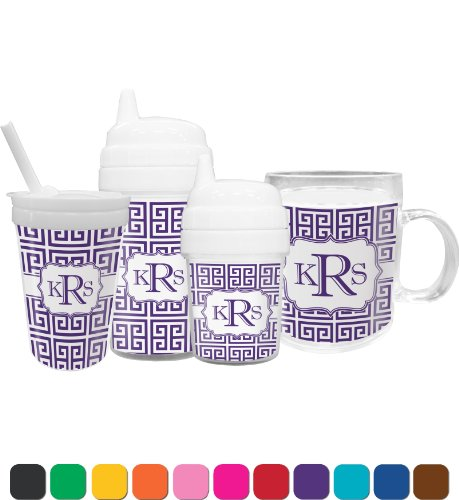 Greek Key Toddler Sippy Cup (Personalized) front-660845