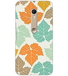 Printdhaba Leaves Design D-1444 Back Case Cover For Motorola Moto X Pure Edition