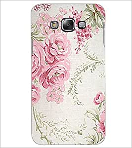 PrintDhaba Floral Pattern D-1976 Back Case Cover for SAMSUNG GALAXY A7 (Multi-Coloured)