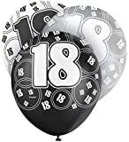 Unique Party 12-Inch Glitz Latex 18th Birthday Balloons (Pack of 6) - Parent